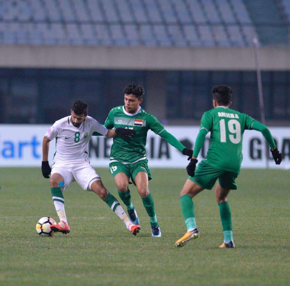 انتهاء لقاء «الأخضر الأولمبي» مع العراق بالتعادل السلبي