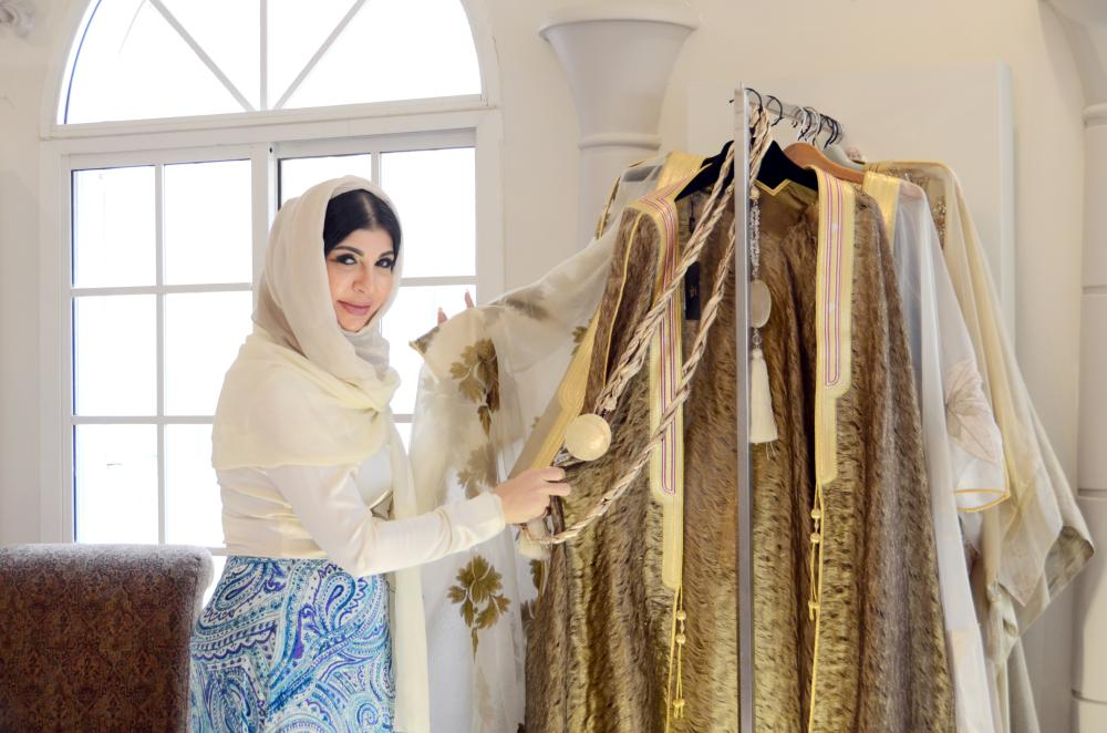 المصممة أميمة عزوز تتوقع انتعاش صناعة الأزياء في السينما. (تصوير: ذكرى السلمي)