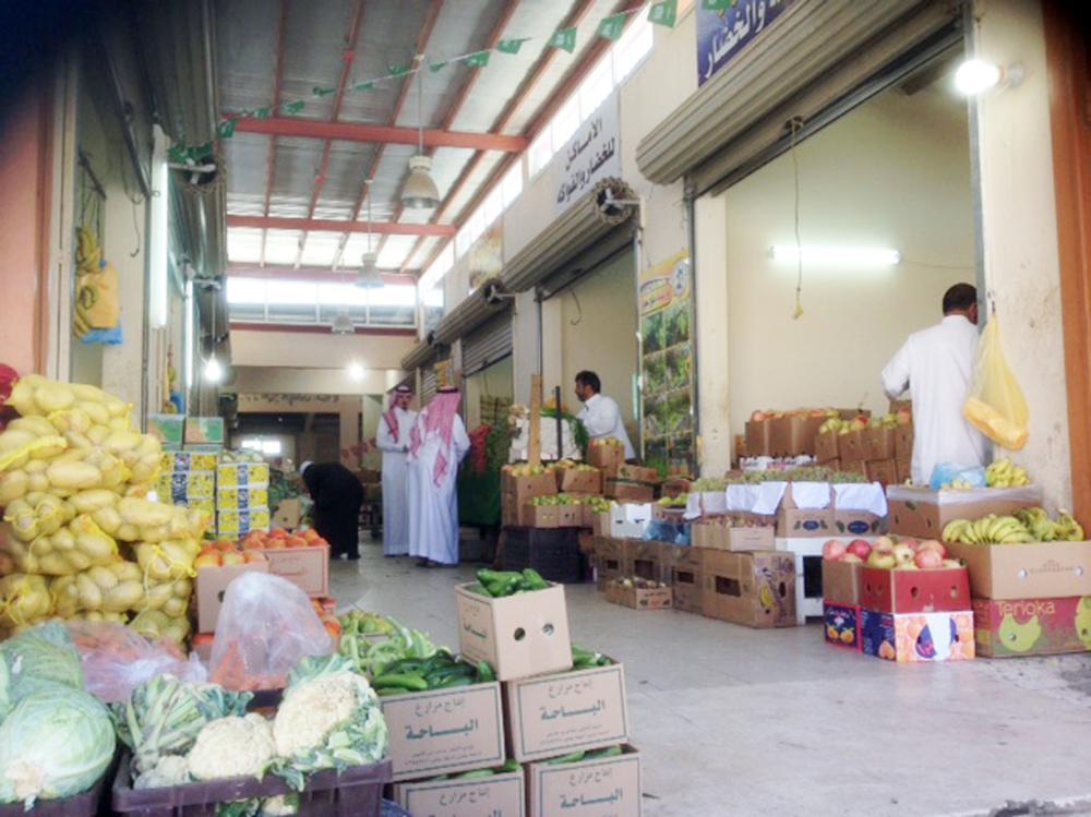 سوق الخضار الجديدة في الباحة بحاجة لإعادة تصميم. (عكاظ)