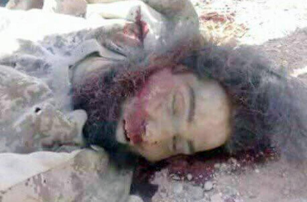 جثة جزار داعش.