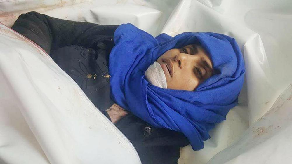 ريهام البدر عقب مقتلها أمس في تعز بنيران الحوثيين. (متداولة)