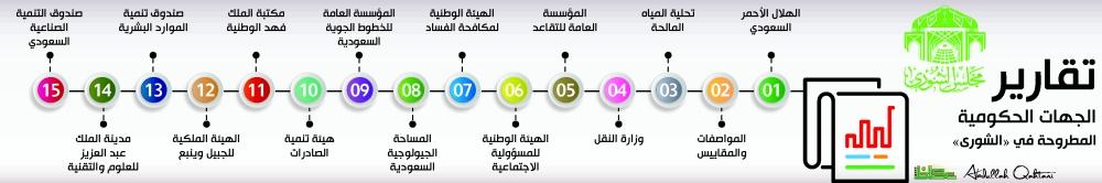 تقارير الجهات الحكومية المطروحة في «الشورى»