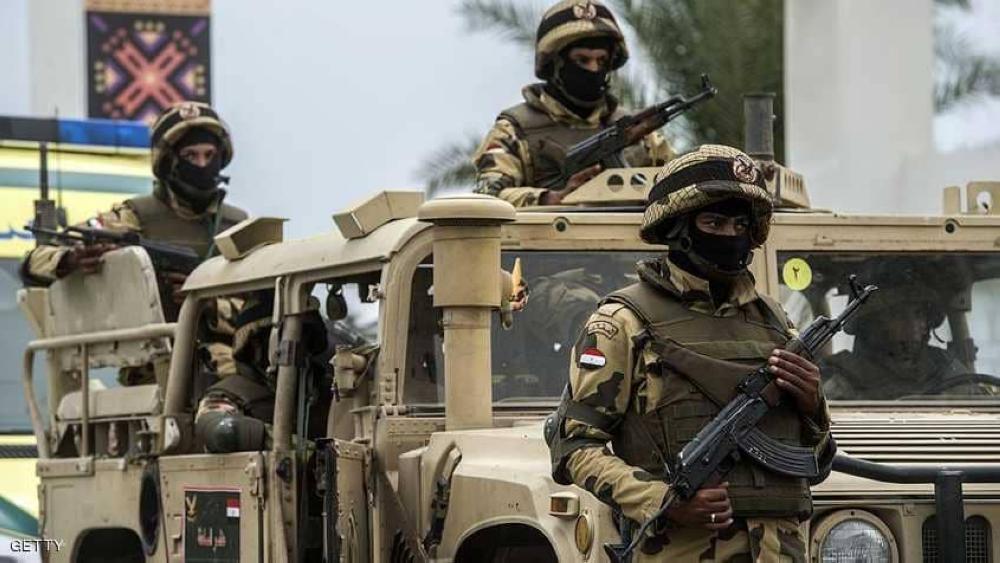 عناصر من قوات الجيش المصري.