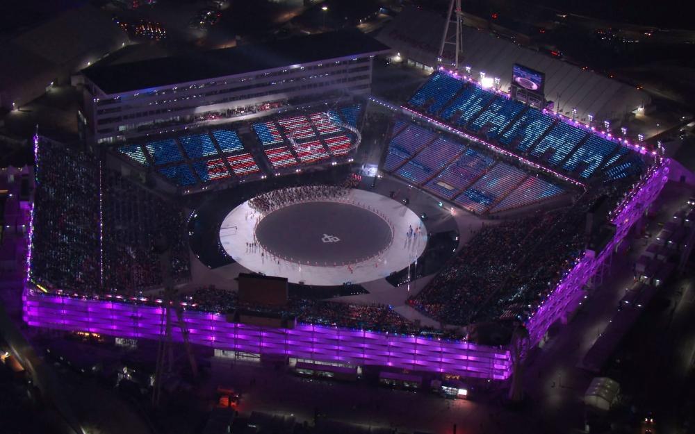 أولمبياد 2018: بدء فعاليات حفل الافتتاح في بيونغ تشانغ