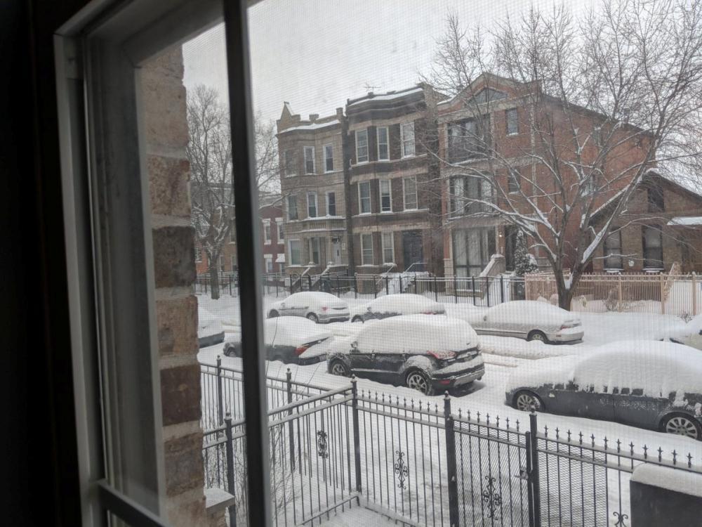 عاصفة ثلجية تلغي مئات الرحلات الجوية في شيكاغو وديترويت