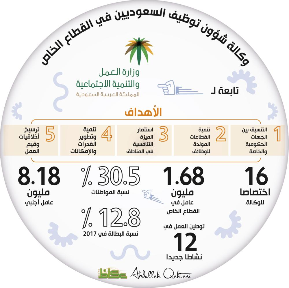 وكالة شؤون توظيف السعوديين في القطاع الخاص