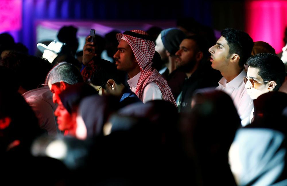 People attend the jazz festival in Riyadh, Saudi Arabia February 23, 2018. REUTERS/Faisal Al Nasser