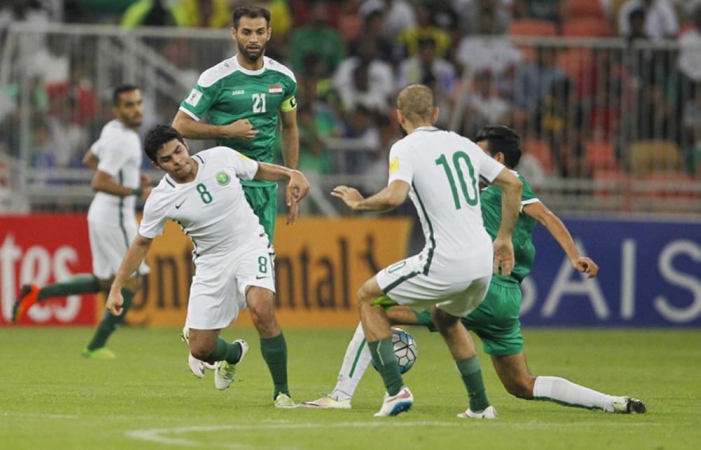 لقاء سابق بين السعودية والعراق في تصفيات كأس العالم في جدة