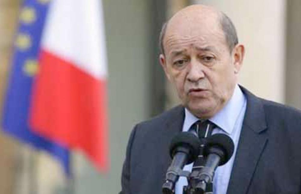 وزير الخارجية الفرنسي جان إيف لو دريان.