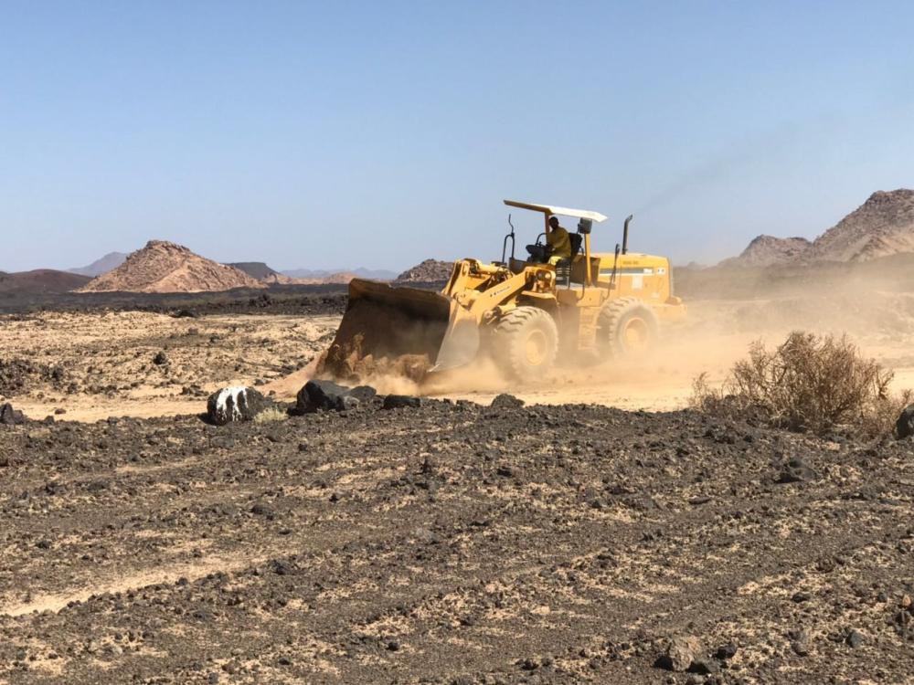 الشبحة: إزالة 10 آلاف متر مربع تعديات على أراضي حكومية