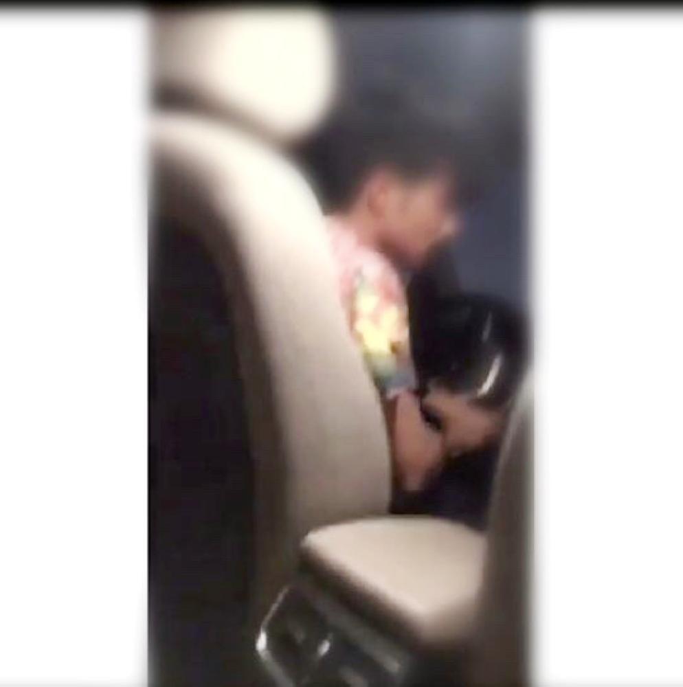 الشاب كما ظهر في فيديو التحرش على مواقع التواصل الاجتماعي. (متداول)