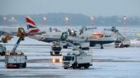 طائرة بريطانية في مطار هيثرو