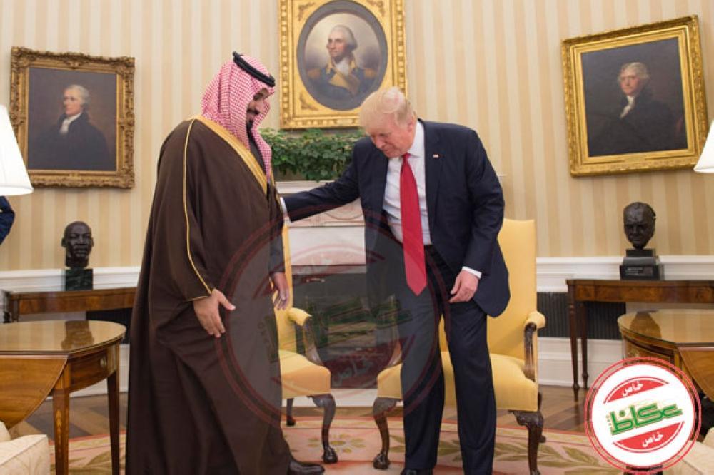 الرئيس الأمريكي مستقبلا ولي العهد خلال زيارته إلى واشنطن في مارس 2017.