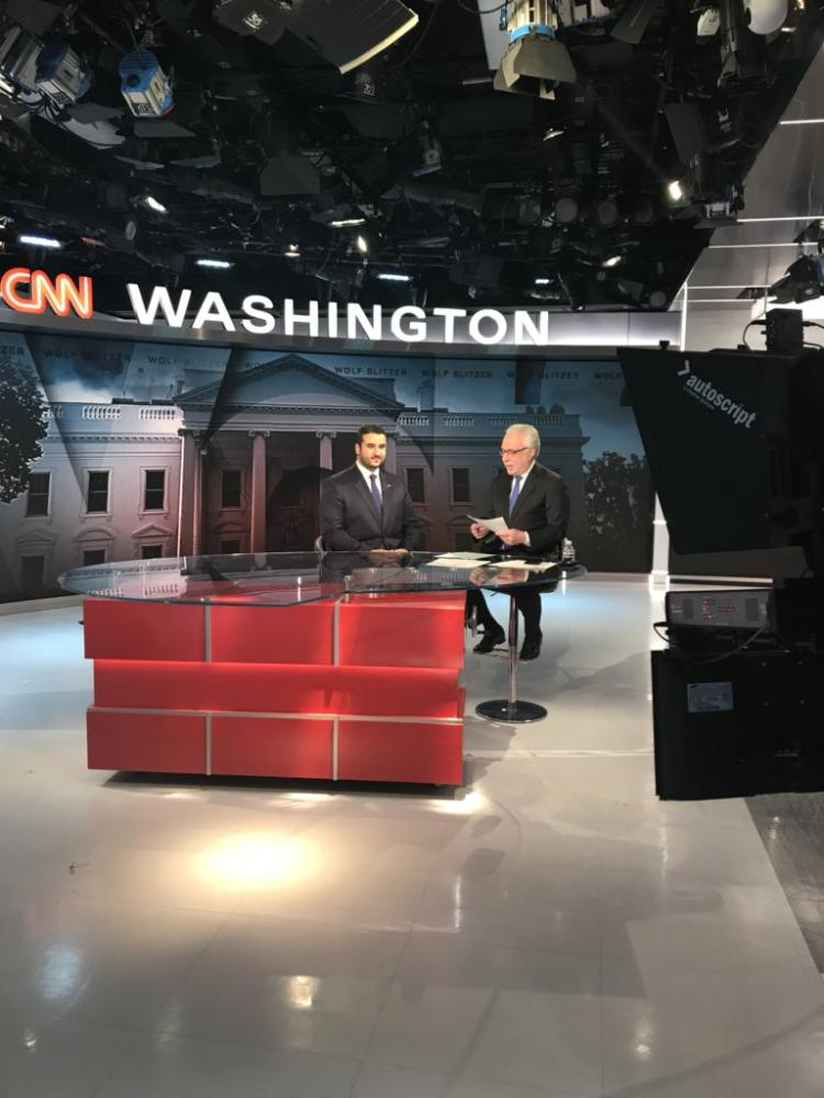 السفير خلال مقابلته على قناة CNN