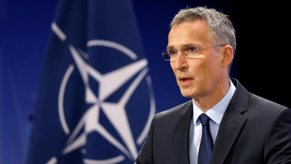 NATO Secretary-General Jens Stoltenberg addresses a news conference ahead of a NATO defence ministers meeting at the Alliance headquarters in Brussels, Belgium, June 28, 2017. REUTERS/Francois Lenoir