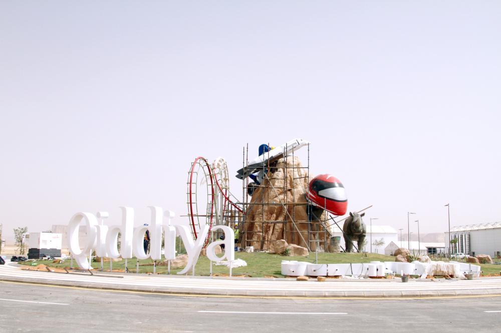 مجسم في ميدان مشروع «القدية». (تصوير: عبدالعزيز اليوسف)