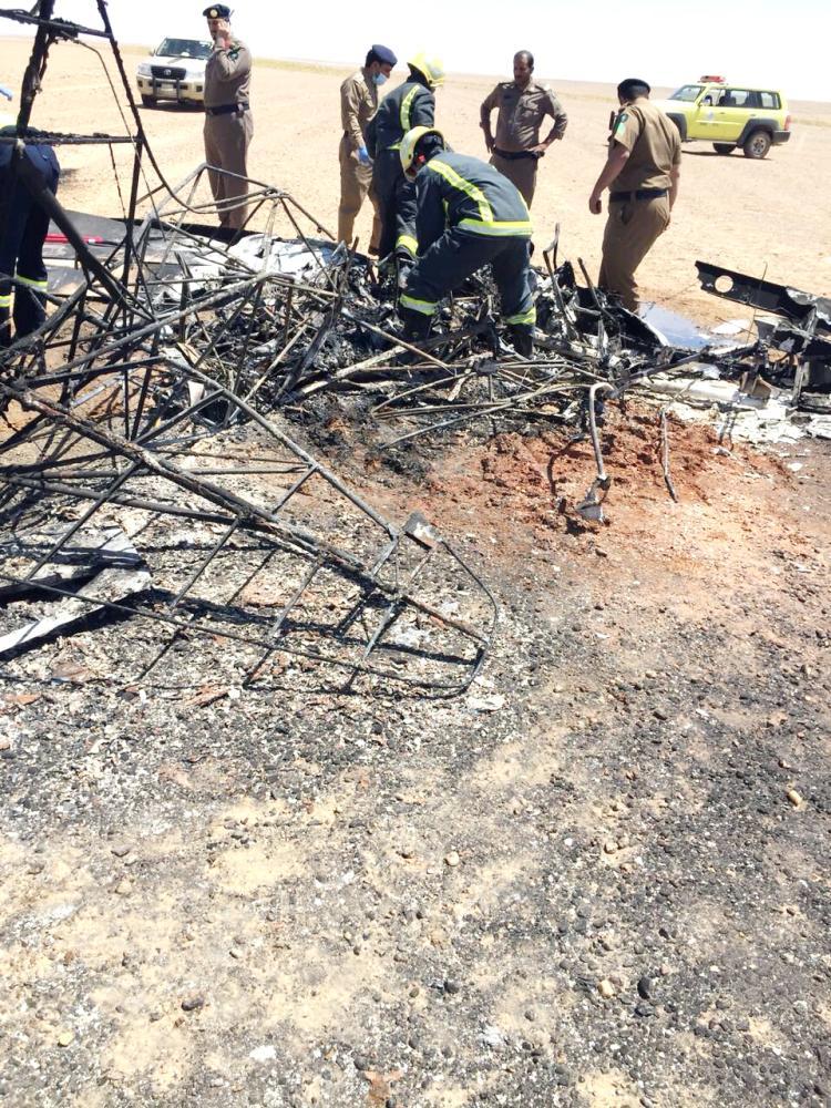 تبوك: وفاة 4 في سقوط طائرة «حياة فطرية» في محمية الخنفة