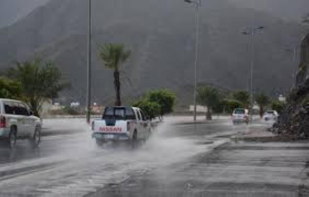 أمطار على مراكز منطقة تبوك