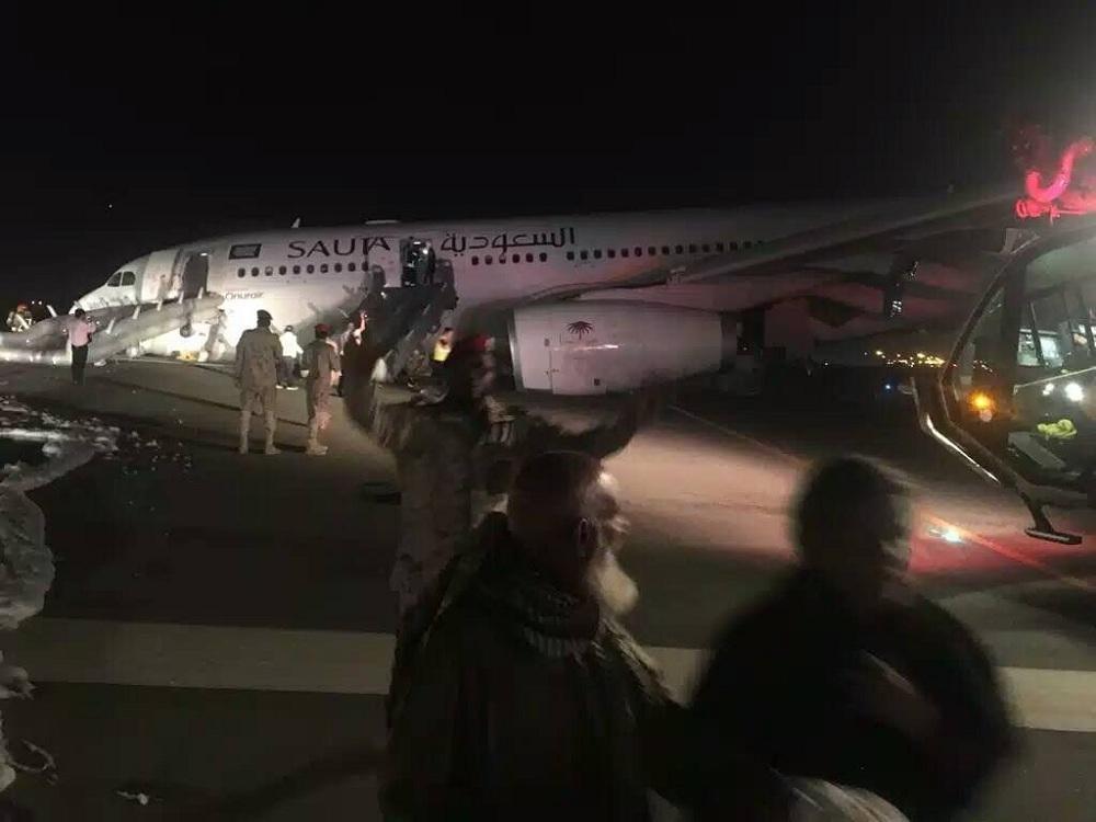 هبوط اضطراري لطائرة سعودية تعرضت لخلل في العجلات الأمامية