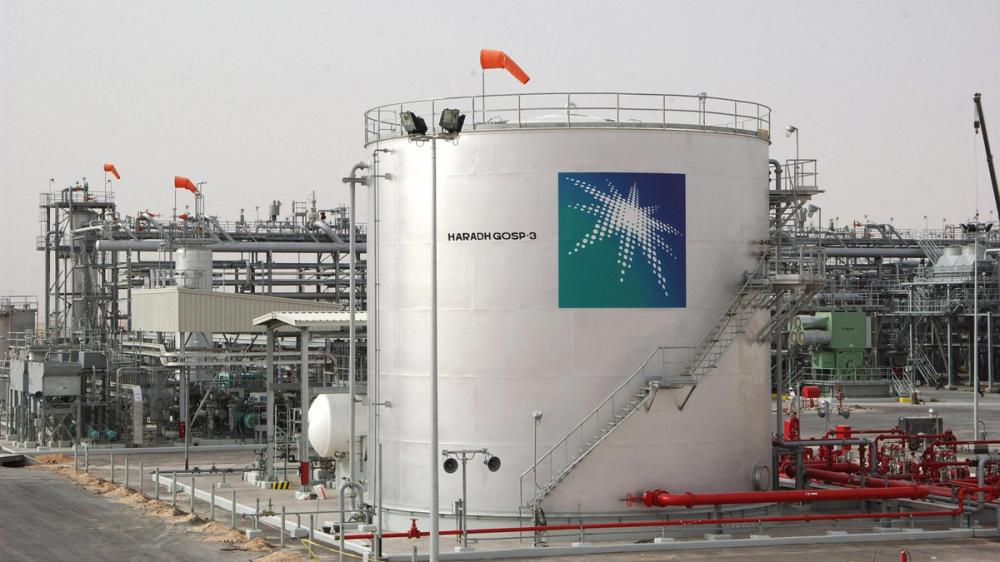 Haradh, SAUDI ARABIA:  A general view shows a new plant inaugurated 22 March 2006 in Haradh, about 280 kms (170 miles) southwest of the eastern Saudi oil city of Dhahran, launching a project adding 300,000 barrels of oil to the kingdom's daily production capacity. The facility which was opened today in a ceremony attended by Saudi Oil Minister Ali al-Nuaimi was completed in January, ahead of schedule, the company said. Approximately 160 kms (100 miles) of new pipeline and extensions will transport crude and gas products to processing facilities further north in the Eastern Province, a statement said. Saudi Arabia, the world's top crude producer and exporter, currently pumps around 9.5 million bpd of oil and has a production capacity of around 11 million bpd.  AFP PHOTO/STR  (Photo credit should read -/AFP/Getty Images)