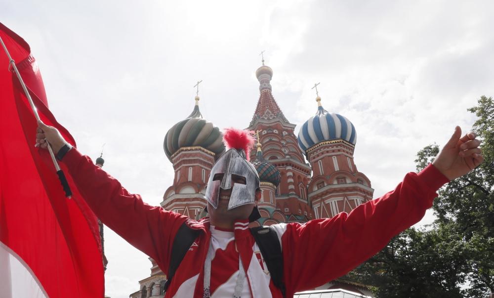 صور | الجماهير السعودية في روسيا.. حب ووفاء