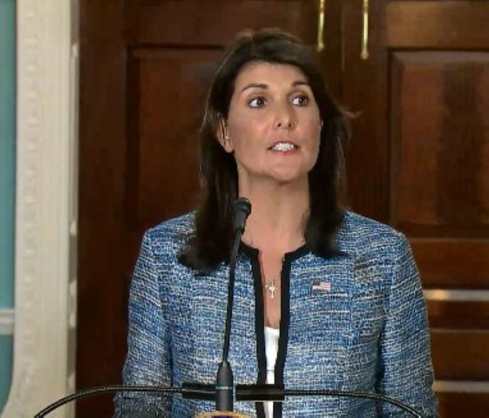هيلي: أمريكا تنسحب من مجلس حقوق الإنسان