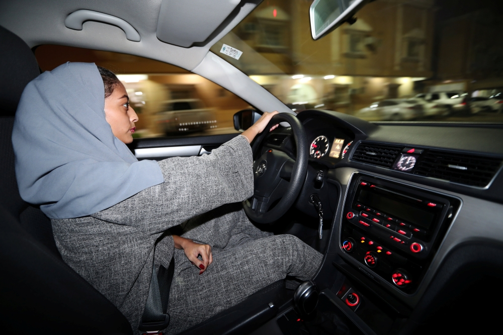 Hannan Iskandar drives her car in her neighborhood, in Al Khobar, Saudi Arabia, June 24, 2018. REUTERS/Hamad I Mohammed