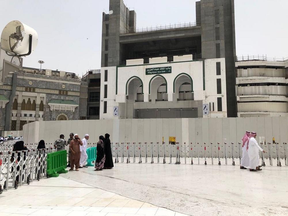 إغلاق باب الملك عبدالعزيز بالمسجد الحرام لاستكمال رفع الطاقة الاستيعابية للمطاف
