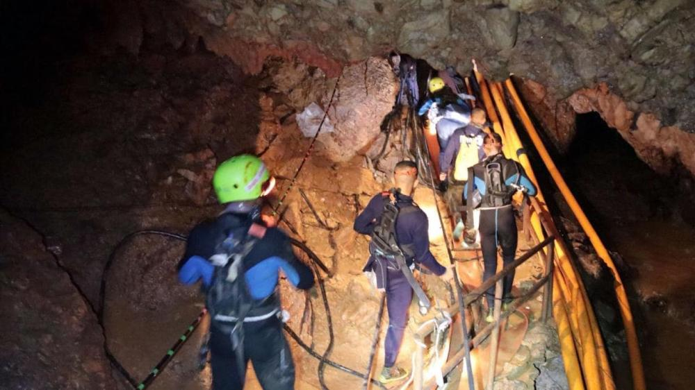 Thailand cave rescue: Two boys 'successfully rescued'
