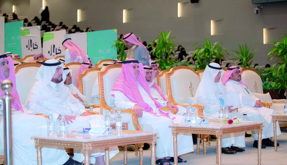 وزير التعليم مشاركا في افتتاح الملتقى الدولي. (عكاظ)