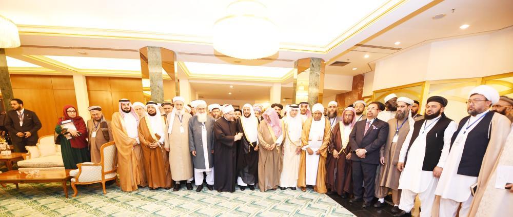 العلماء المشاركون في مؤتمر «سلام أفغانستان». (واس)