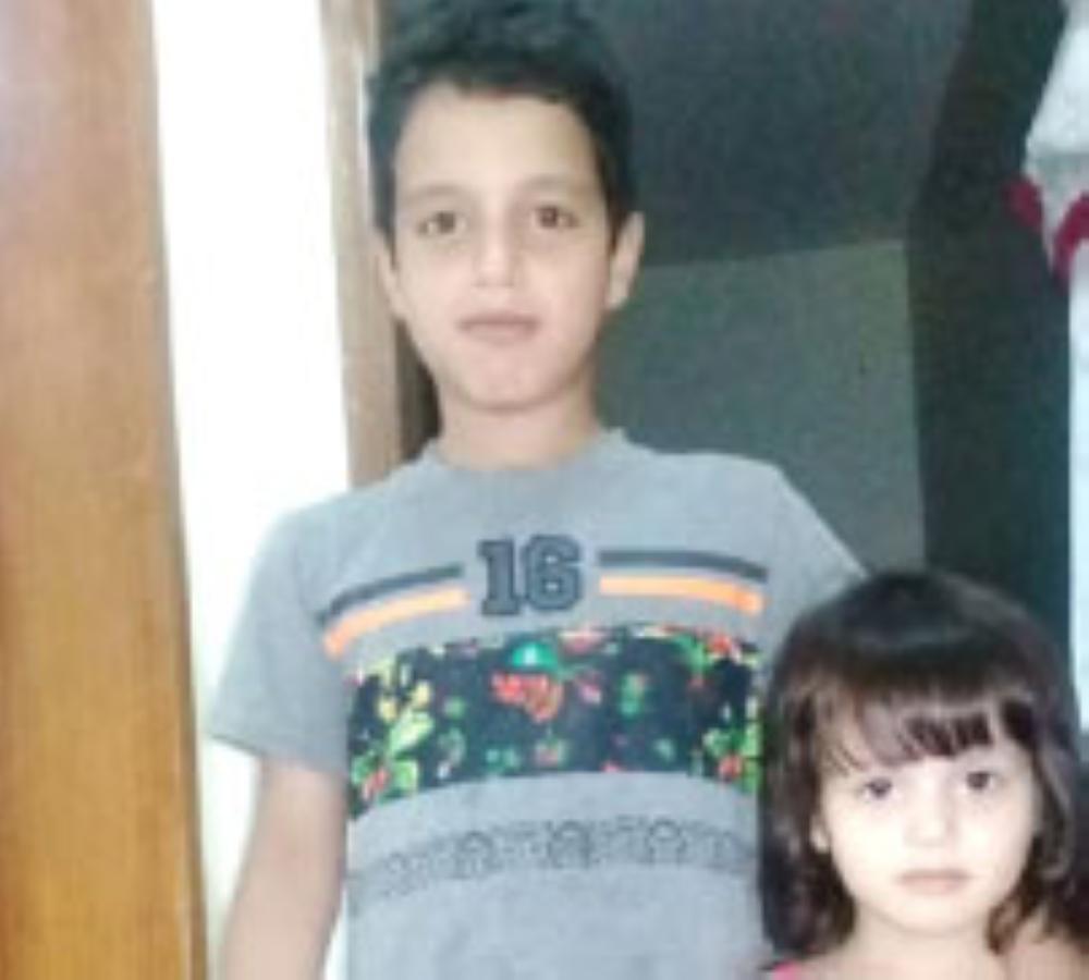 محمد وشقيقته ريانة.