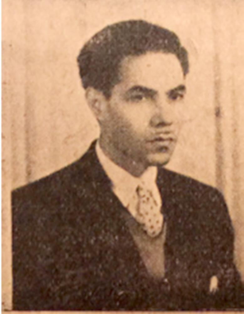 صورة لعبدالفتاح أبو مدين التقطت في شبابه.