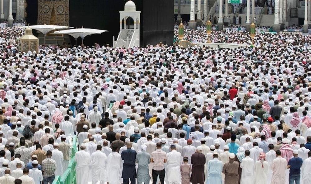 جموع المصلين في الحرم المكي اليوم الجمعة