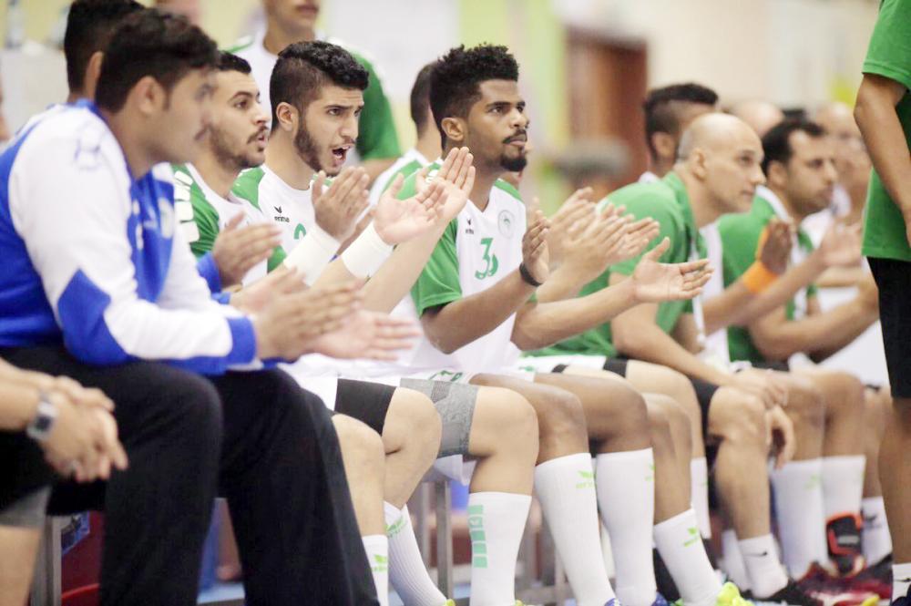 روح معنوية عالية قدمها أفراد المنتخب السعودي طوال المباراة.