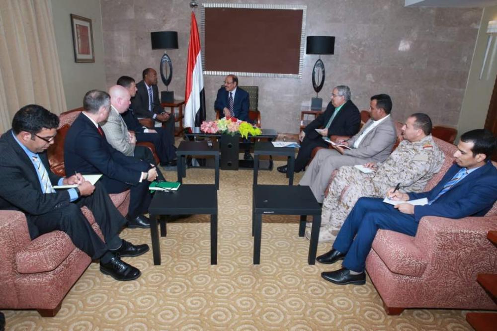 بحث آليات استئناف الدعم العسكري والأمني بين اليمن والولايات المتحدة