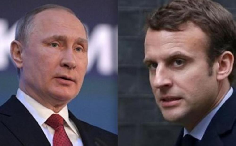بوتين وماكرون يناقشان الوضع في سورية