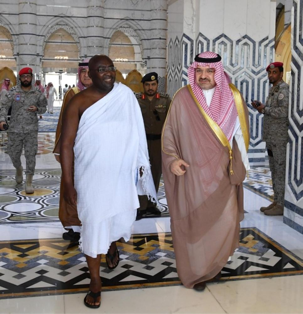 الأمير مشعل بن ماجد مستقبلا نائب رئيس جمهورية غانا