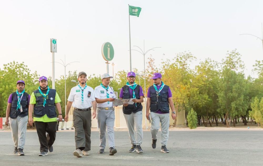 «الكشافة السعودية» تُرشد 1357 حاجاً في اليوم السابع