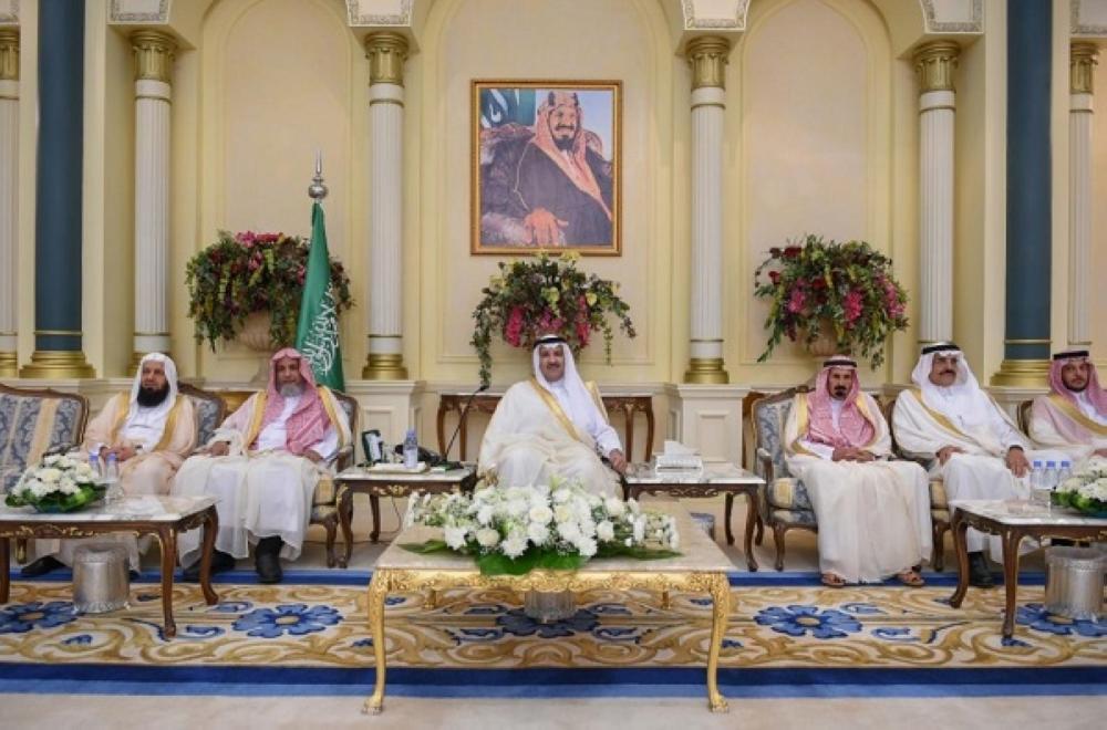 أمراء المناطق يستقبلون المهنئين بمناسبة عيد الأضحى