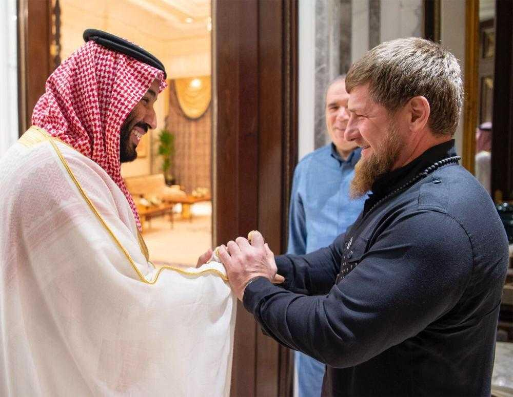 His Royal Highness Prince Mohammed bin Salman bin Abdulaziz, Crown Prince, Vice President of the Council of Ministers and Minister of Defense, received at Mina Palace President of the Chechen Republic Ramzan Kadyrov.