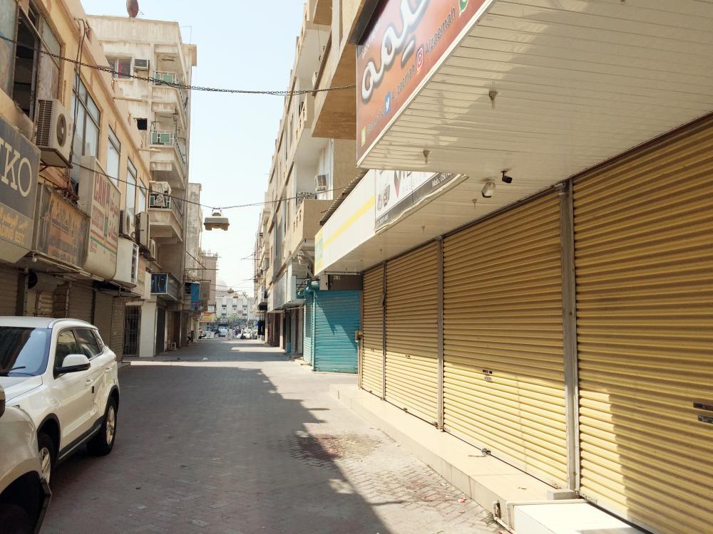محلات مغلقة في الدمام. (تصوير: حسام كريدي)