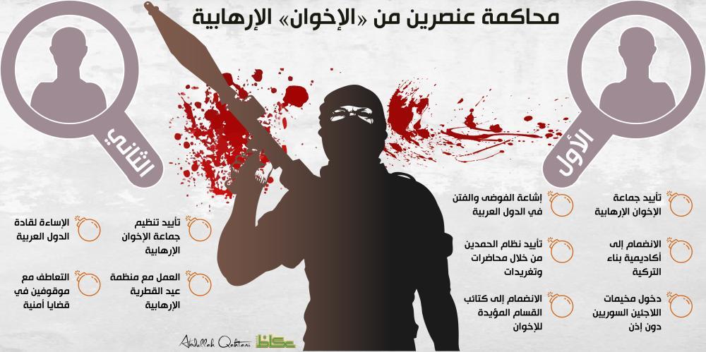 محاكمة عنصرين من «الإخوان» الإرهابية