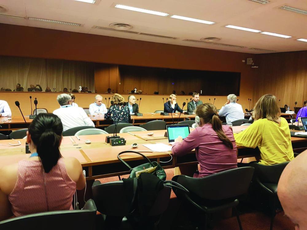 مشاركو الندوة الجانبية التي عقدت أمس في جنيف، ضمن مجلس حقوق الإنسان.