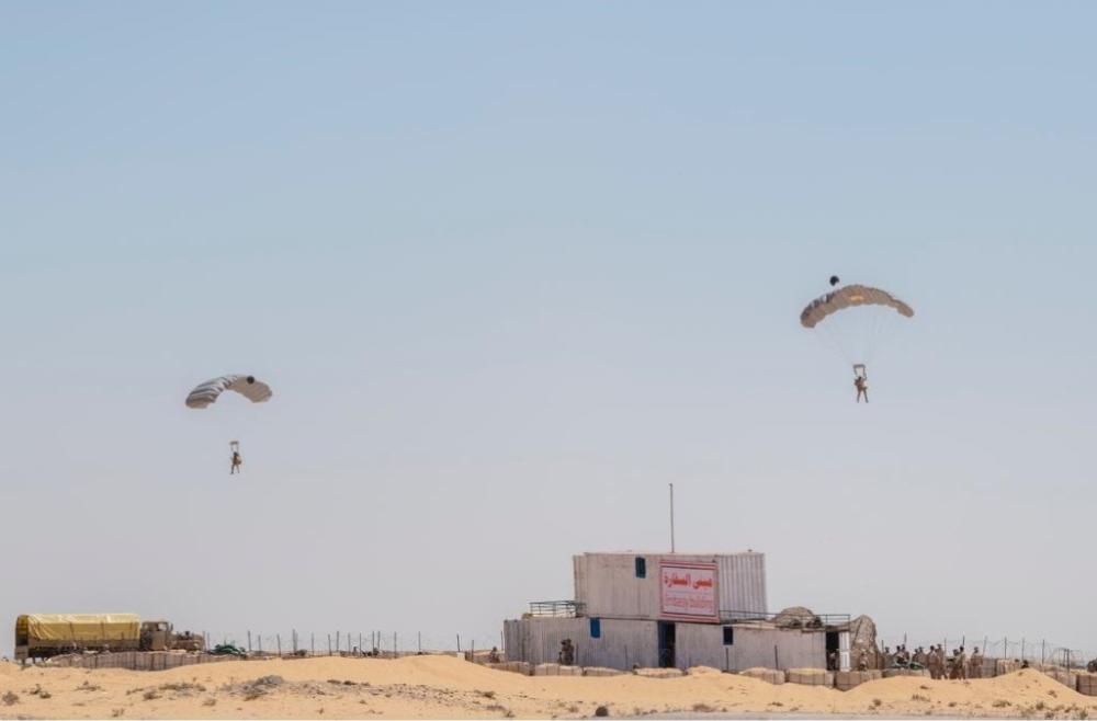 استمرار مناورات تمرين النجم الساطع 2018 في مصر