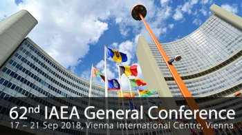 The 62nd General Conference of the International Atomic Energy Agency (IAEA) opened today, Monday, in the Austrian capital, Vienna, with the participation of official delegations from more than 170 countries.