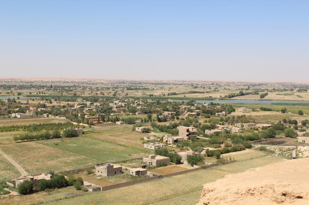 مناطق سيطرة «داعش» على الضفة الثانية من نهر الفرات.