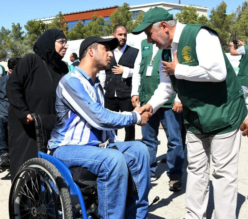 الربيعة يتفقد أوضاع اللاجئين السوريين في إربد