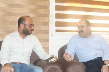 الزميل عبدالله الغضوي يحاور رئيس حزب الاتحاد الديموقراطي شاهوز حسن