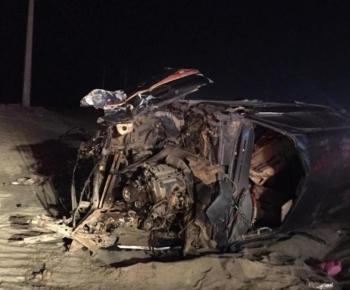 إحدى السيارات عقب الحادثة.